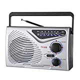 Radio, use DC-5V/USB Cable Power Supply/Built-in Rechargeable Battery 1200MA, Portable FM/AM Radio,...
