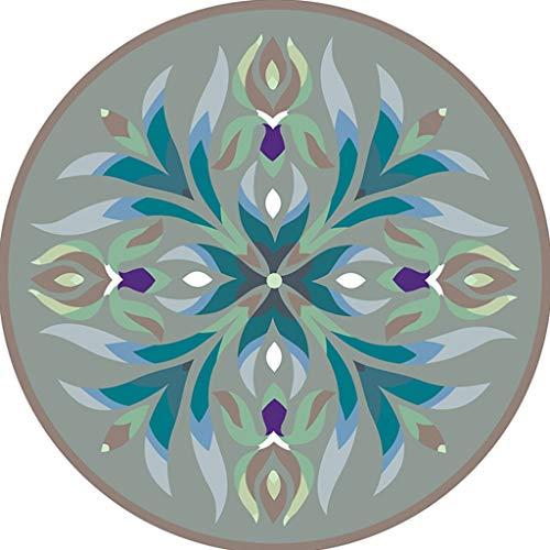 XQAQX Moquettes Tapis et sous-Tapis Tapis de Style Ethnique Chinois Rond rétro Tapis Anti-dérapant Coussin épais imprimé Doux Carpets Rugs (Couleur : G, Taille : 60 cm)