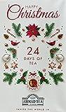 Ahmad Tea Tè calendario dell'avvento 2021 - 24 diverse bustine di tè - calendario da tavolo pieghevole - Tè negro, verdi, alla frutta e alle erbe - 24 tipologie - 45,5g Tè
