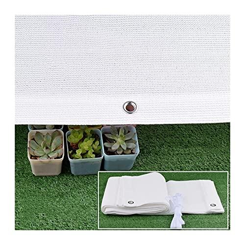 KKCF Paño De Sombra, Anti-UV Red Protección Solar para Techo Balcón Red Solar Blanca 6 Pines Engrosada Encriptada, Estacionamiento Piscina, Tamaño Personalizable (Color : White, Size : 4x8m)