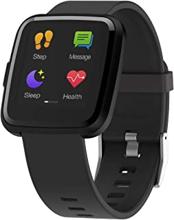Renrui Smart Bracelet Fitness Tracker 1.3in Touch Screen Heart Rate Watches Blood Pressure and Oxygen Measurements Y7P