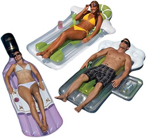Swimline Bottle of Rose Beer Mug and Margarita Mattress Swimming Pool Floats Combo Pack product image