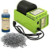 WireJewelry Single Barrel Rotary Tumbler, Jewelry and Metal Polishing Kit, Includes 1 Pound of Jewelers Mix Shot and 8 Ounces of Shinebrite Burnishing Compound