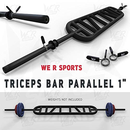 We R Sports Triceps Bar Parallel And Angled Handle Multi Grip Standard Bar 1'