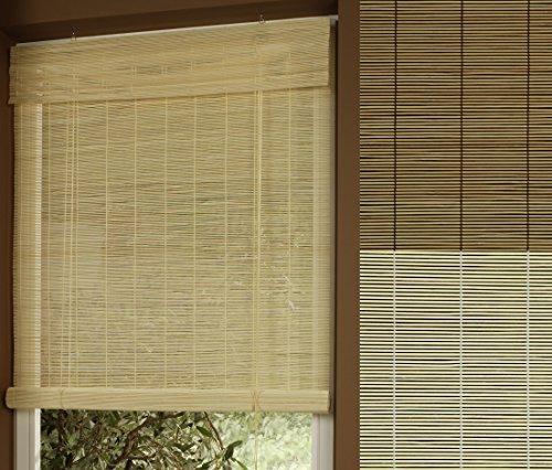 Garduna Rollo - Bambus # Natur 80 x 160cm # Bambusrollo mit Seitenzug - Sichtschutz