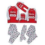 Padaleks Kids & Adults Pajamas Matching Letter Printed Sleepwear Top Pants Dad Mom Kid Outfit Christmas Pjs Set
