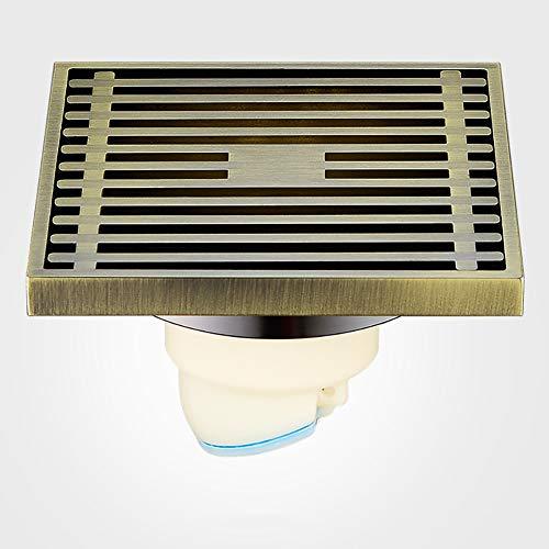 BIXUYAO Quadratischer Dusche-Abfluss/Bad Komplettes Kupfer Verdickte Deodorant Regen Abflussrohr Badezimmer Küche,c