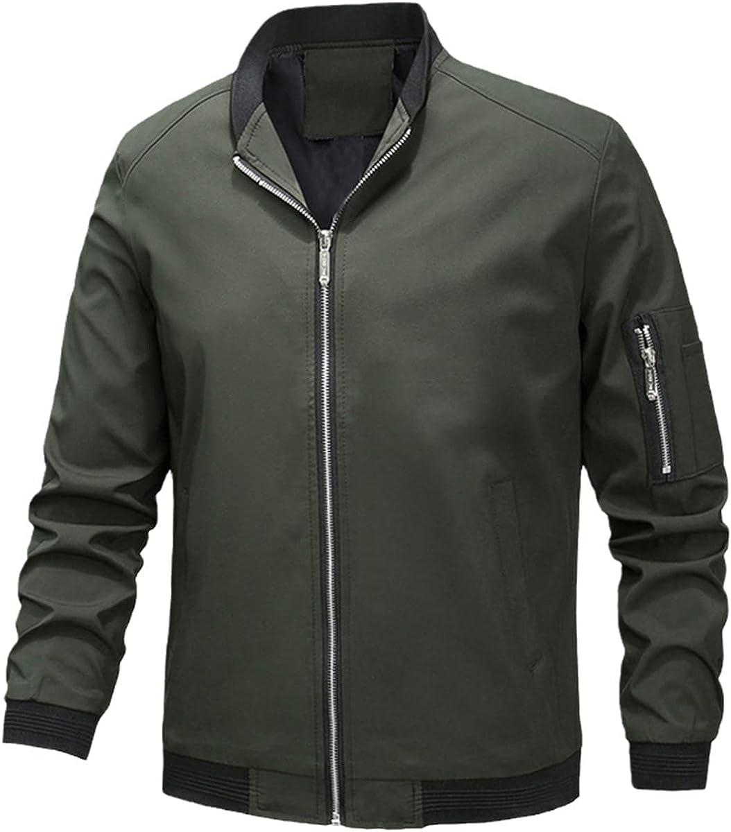 Autumn Men's Bomber Jacket Zipper Jacket Hip Hop Slim Fit Jacket