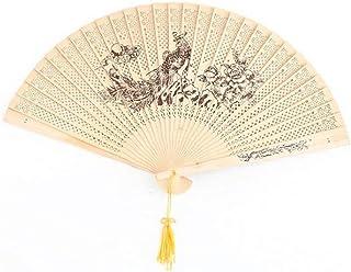 Wood Fan -Beautiful Chinese Culture Folding Handheld Hand Fan Hand-Crafted 2Pcs/5pcs/10pcs(Folding Hand Fan)