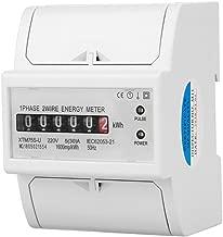 220V DIN-Rail Electric Meter, Digital 1 Phase Electric Meter 2 Wire 4P, XTM75S-U Electric Meter KWh Meter(5(30) A)