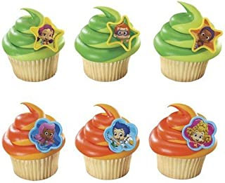 DECOPAC Bubble Guppies Molly, Gil and Gang Cupcake Rings (12 Count)