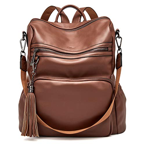 top rated Backpack Wallet for Women Fashionable leather designers travel large women's shoulder bags with tassel … 2020