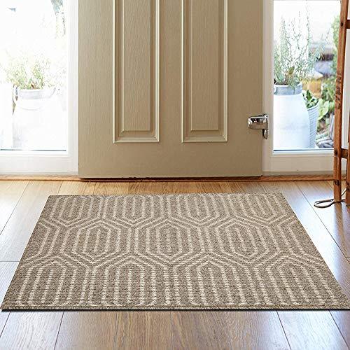 HEBE Extra Large Indoor Doormat 32″x 48″ Front Door Mat Non Slip Super Absorbent Mud Mat Entrance Way Door Rug Welcome Mat Machine Washable Floor Carpet Geometric