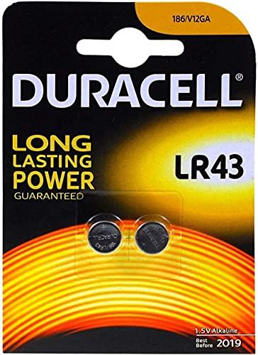 Duracell Batterie Elektronik LR 43 Alkalineknopfzelle (LR43) 1,5V 2St