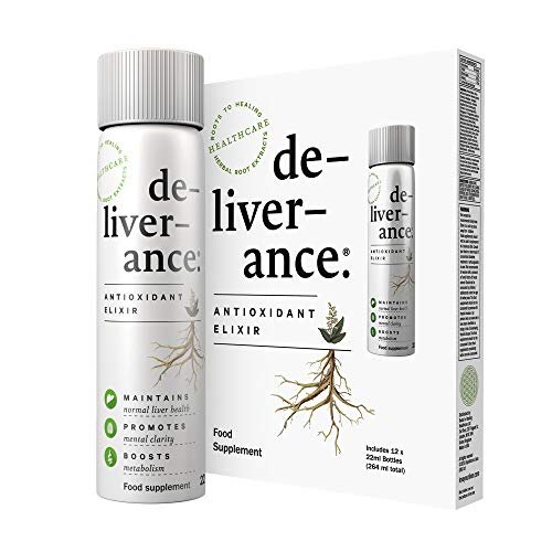 de-liver-ance - Liver Detox - Antioxidant Supplement - Immune Support - Natural Formula - Body Cleanse - Pack of 12