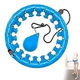 Outinhao Smart Hula Hoops, Aro de Hula Inteligente Fitness Masaje, 24 Secciones Ajustable de Neumáticos y 360 Grados de Masaje, Fitness Artefacto, para Hacer Ejercicio y Adelgazar en Casa