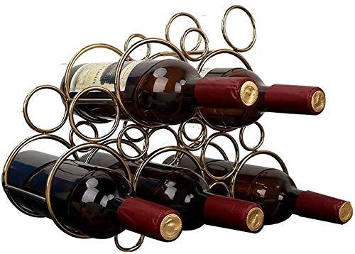 Estantería de vino Estante de la botella de vino del metal y el soporte de estante del vino del soporte for el almacenamiento Organizando en gabinete de cocina encimeras despensa - cada uno tiene 5 bo