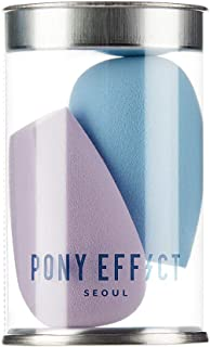 PONY EFFECT Mini Pebble Blender | Mini Makeup Sponges, Makeup Wedges for All Types of Foundation | K-Beauty
