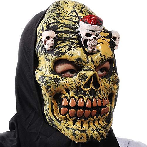 Halloween kostuum griezelige partij terrorist rekwisieten latex eng zwart doek grimace horror masker humoristische masker maskerade prom masker