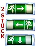 Lot de 2Lampe d'urgence Éclairage d'urgence Exit sortie de secours fuite Lampadaire Lumière d'urgence fuite voie Exit Il PF