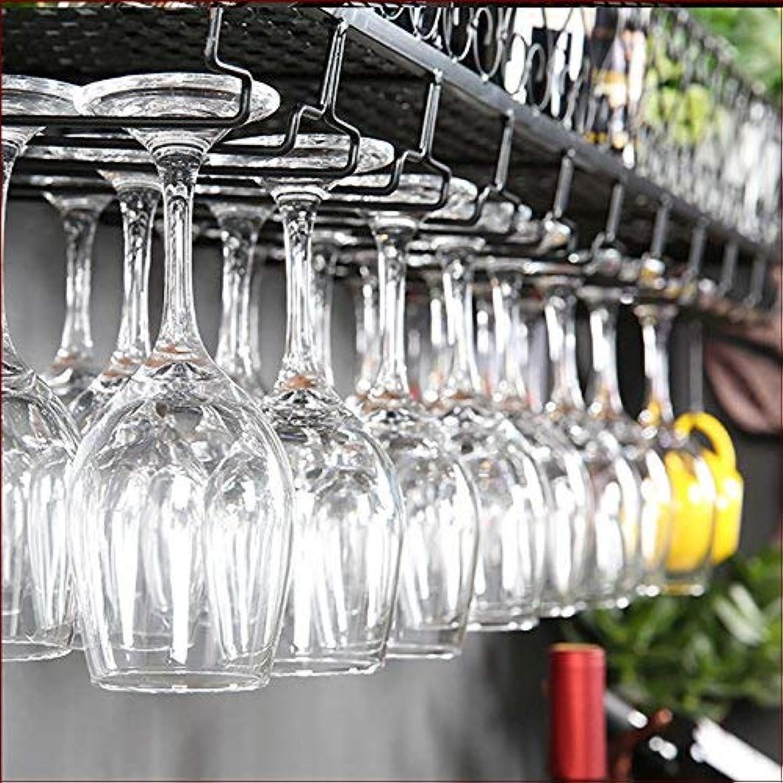 seguro de calidad Afranyu Afanyu Estante de vino de hierro forjado europeo europeo europeo que cuelga el soporte de cristal de arriba 30Cm, 60Cm, 80Cm, 100Cm Longitud opcional Madera ligera de acero,Negro,S flor l 100cm w 30cm  Obtén lo ultimo