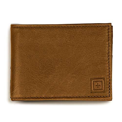 5.11 タクティカル Meru レザー 二つ折り財布 RFIDシールド付き スタイル56462 US サイズ: One Size カラー: ブラウン