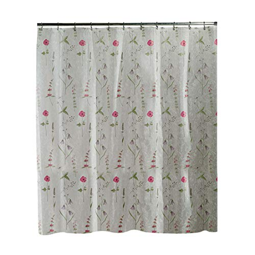 Bluebell flowers and Red Poppies EVA floral Shower Curtain