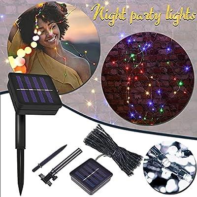 Amazon - Save 80%: Solar String Lights Outdoor,LED Solar String Lights Festival Garden De…