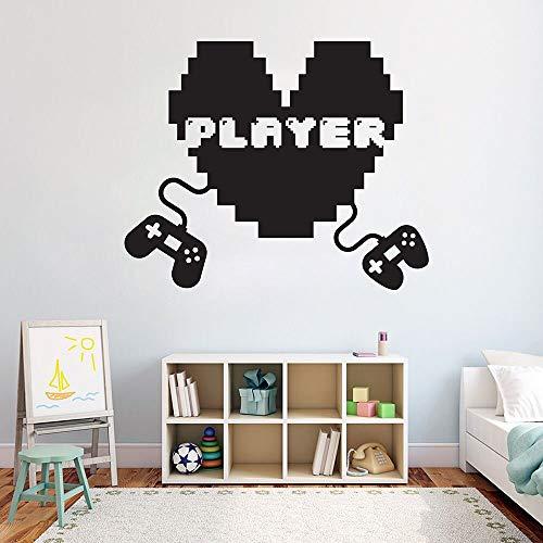 Gamer creative tatuajes de pared arte lindo pegatinas de pared decoración de vinilo decoración de la casa patrón de habitación de niños