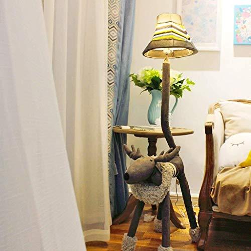 BXU-BG Lámparas de pie, Led animal creativo lámpara de pie, ciervos Lámpara de piso, habitación Lámpara de la sala de estar dormitorio de los niños piso de los niños de luz, Eye-El cuidado de luz vert