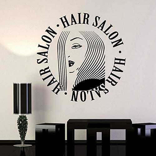 mlpnko Friseursalon Logo Wandtattoo Friseur weibliche Designer Spa Beauty Studio Innendekoration Tapete,CJX16217-57x57cm