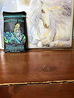 Alice in Wonderland glass pipe pouch