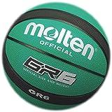 Molten BGR Baloncesto, Interior/Exterior, Caucho Premium, Verde/Negro, Talla 6, Adecuado para niños de 12, 13, 14 años y niñas de 14 años y Adultos