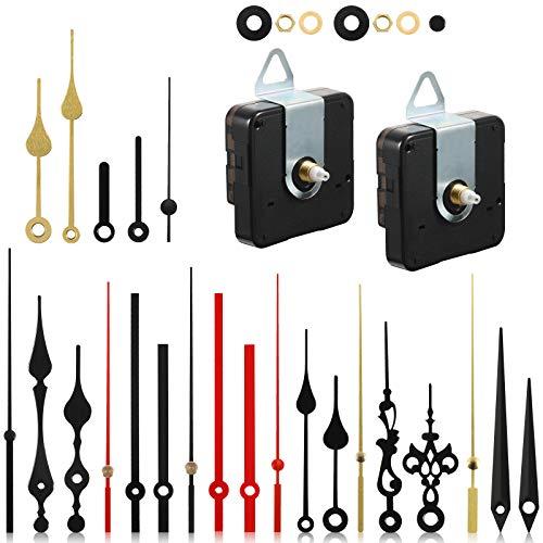 2 Stücke Quarz Uhr Uhrwerk Mechanismen Nicht Tickender Uhr Mechanismus mit 8 Uhrzeigern Sets von DIY Uhrwerk Kits Ersatz
