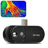 Küchenks Cámara termográfica para teléfono Android, cámara infrarroja USB para teléfonos móviles HT-102 para HVAC, solución de Problemas de Equipos, detección de diferencias de Calor en Edificios