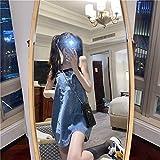YUNCHENG Denim Suspender Falda Femenina Estudiante Vestido Coreano 2021 Nuevo Primavera Estilo Occidental, Falda de explosión de tamaño pequeño (Color : Blue, Size : One Size)