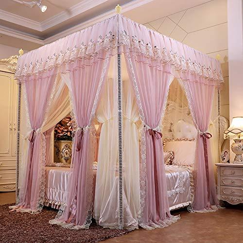 BDTOT Moskitonetz,Mückennetz Betthimmel Baldachin Bett Vorhang für Mädchen and Erwachsene Prinzessin Schlafzimmer Dekoration Einfache Installation System Cute Cozy Drape