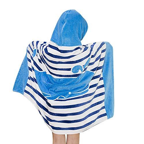 Ymwave Poncho Serviette de Bain avec Capuche Enfant 100% Coton Poncho à Capuche Les Garçons Les Filles Bande Dessinée Peignoir À Capuche 127 * 76cm