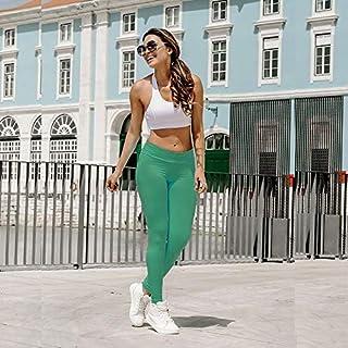 YKDY Yoga Trousers Elastic Movement Folds Bottoming Yoga Pants Sports Leggings (Color : Light Green, Size : XL)