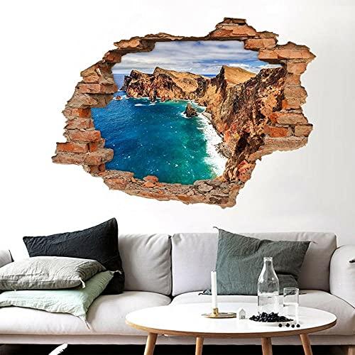 3D Precipice Ocean 864 Murales Wall Stickers Decalcomania svolta
