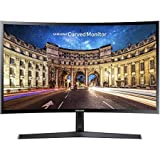 Samsung CF396 Series Super Slim Curved 27-Inch Full HD 16:9 LED-Backlit Monitor with AMD FreeSync, 1080p, 60Hz, 4ms, Game Mode, Eye Saver Mode, VESA Mount, HDMI, VGA, Black (Renewed)