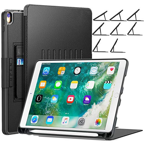 BLAVOR Case for iPad Pro 10.5, iPad Air 3 with Card Pocket/Apple Pencil Holder/Magnetic Stand (Adjustable Viewing Angles, Shockproof, Scratch-Proof, Splash-Proof) (Black)