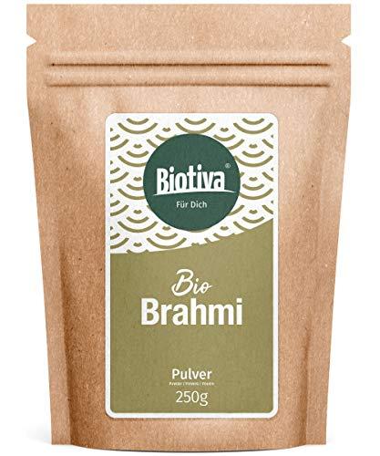 Brahmi Bio Pulver- 250g - Bacopa Monnieri - Gedächtnispflanze - vegan - Ayurveda -Garantiert ohne Zusatzstoffe - Brahmipulver - Abgefüllt in Deutschland (DE-ÖKO-005)