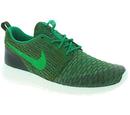 Nike Women's WMNS Roshe One Flyknit Sneakers Green Size: 5 UK