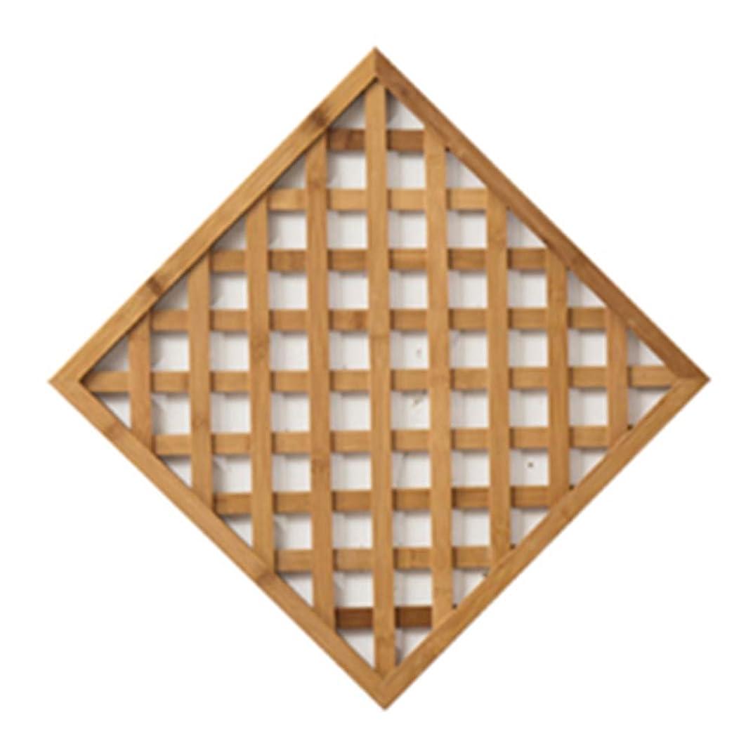 に話す上流のスパイラルZENGAI フラワースタンド 竹 さび止め 壁掛け式 メトープ フェンス グリッド クライミングフレーム 、5色 、2つのサイズ フラワースタンド (色 : ウッド うっど, サイズ さいず : 50x50cm)