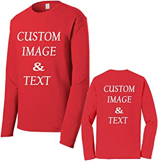 Custom Made Long Sleeves Fan Tee Shirt, Upload Photo, Logo, Type Text, Design Your Own