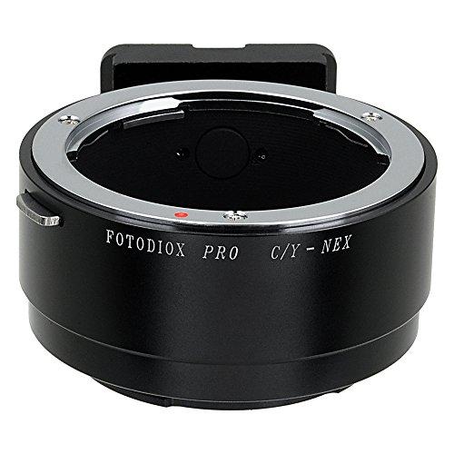 Fotodiox Pro Adaptador de Lente - Lente Contax/Yashica (C/Y, CY) a Cámara Sony E-Mount Mirrorless (APS-C & Full Frame)