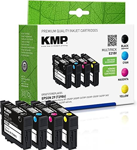KMP Patrone Kompatibel Epson 29 T2986 Multipack (1x 175, 3x 180 Seiten) Druckerpatronen für Epson Expression Home