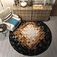 円形ラグカーペットラグ ベッドルームのインテリアカーペットのためにキッズルームのホームインテリアのためにリビングルームクリエイティブデザインエリア敷物のためのエリアラグ寝室3Dラウンドカーペット現代ラグマット (Color : A, Size : 100X100cm)