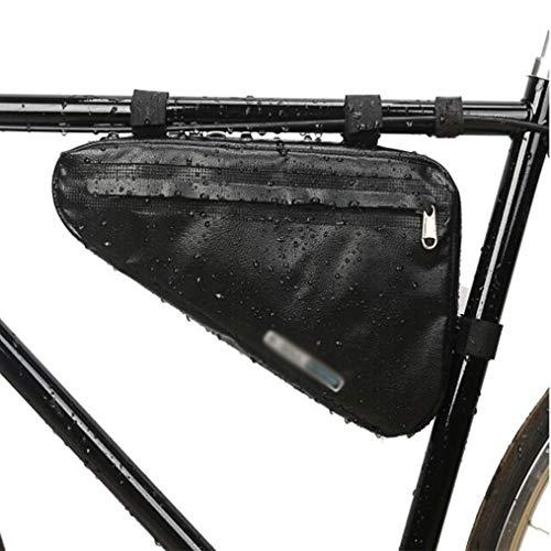 B-D Bolsa de Marco de Bicicleta Bolso Impermeable Bolsa Bicicleta Impermeable Bolsa Bicicleta Impermeable para Teléfono Inteligente por Debajo de 6,5 Pulgadas,Negro